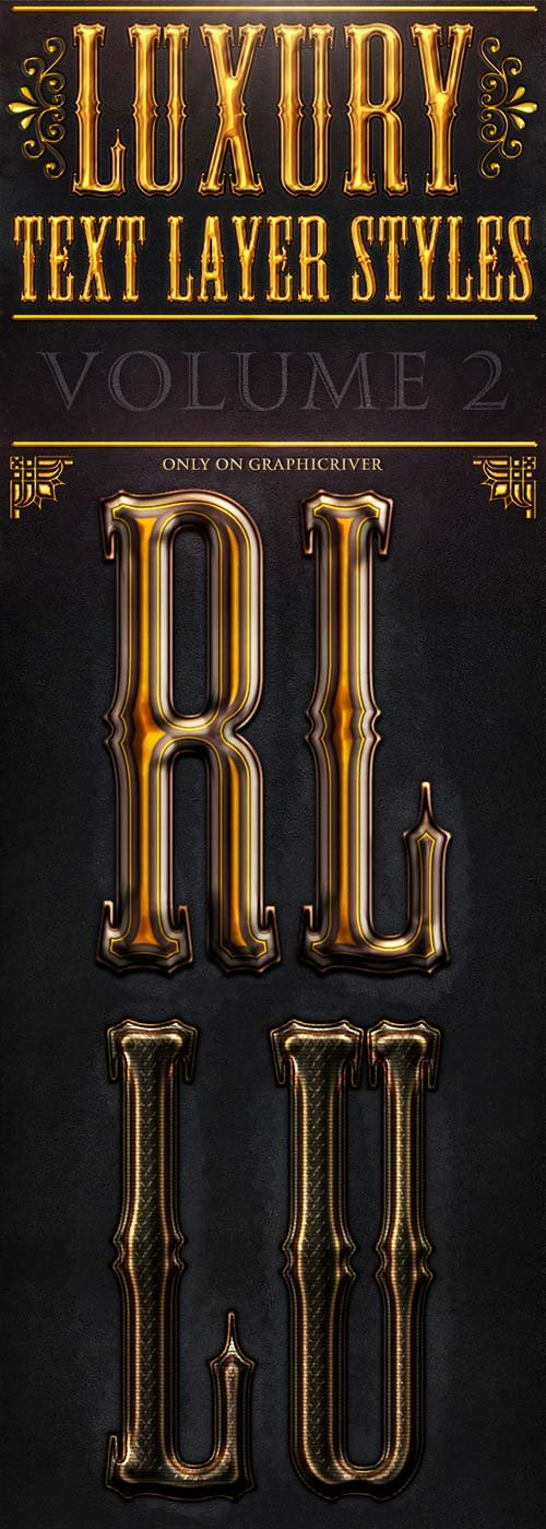 GraphicRiver Luxury & Royal Photoshop Text Effect V2