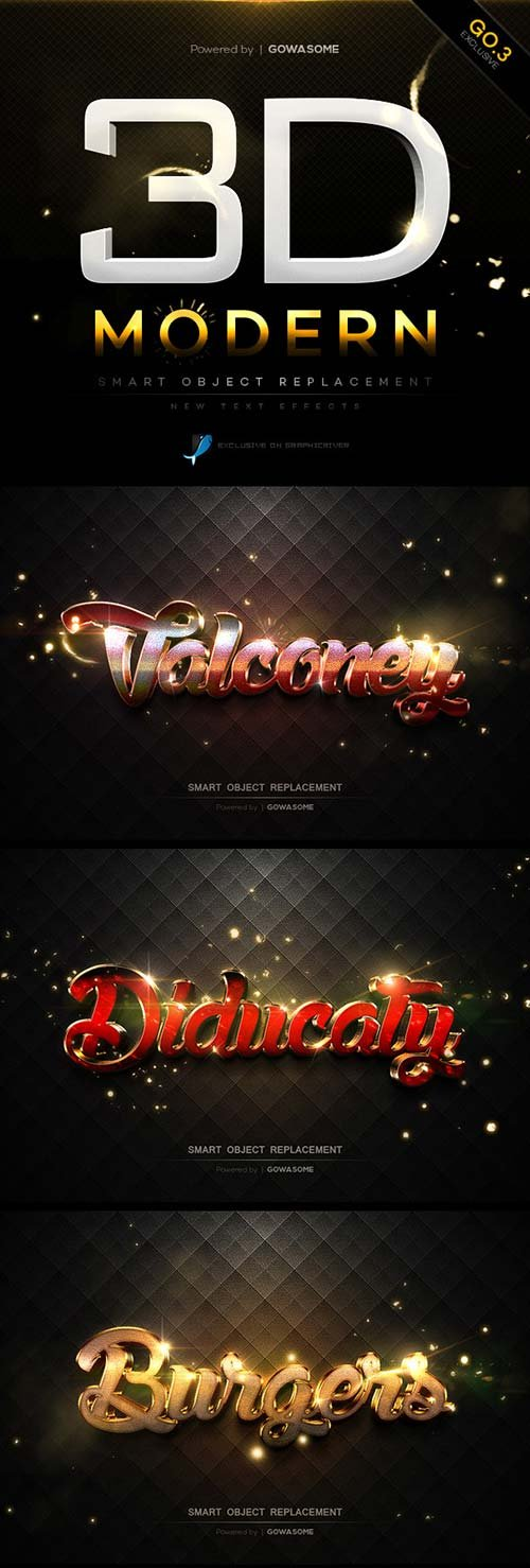 GraphicRiver Modern 3D Text Effects GO.3