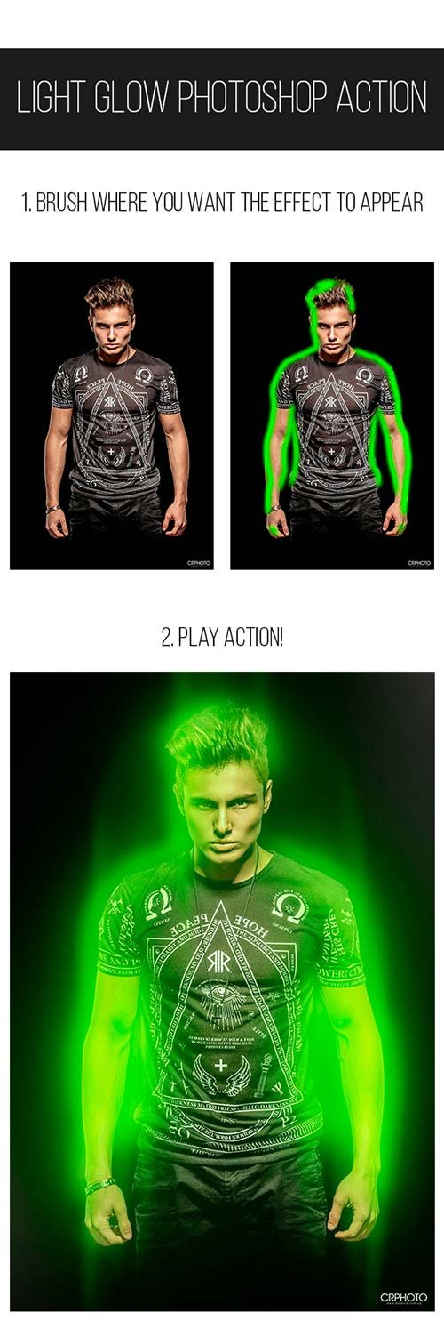 GraphicRiver Light Glow Photoshop Action