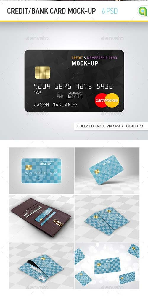 GraphicRiver Credit / Bank Card Mock-Up