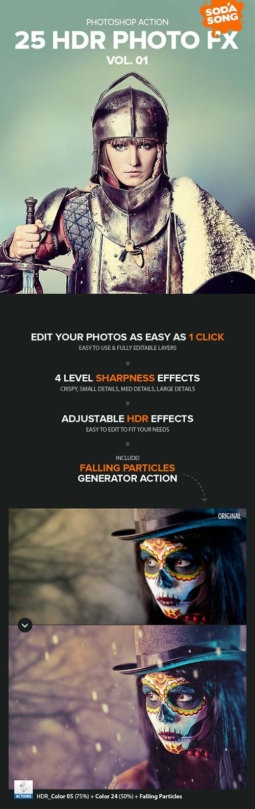 GraphicRiver 25 HDR Photo FX V.1 - Photoshop Action