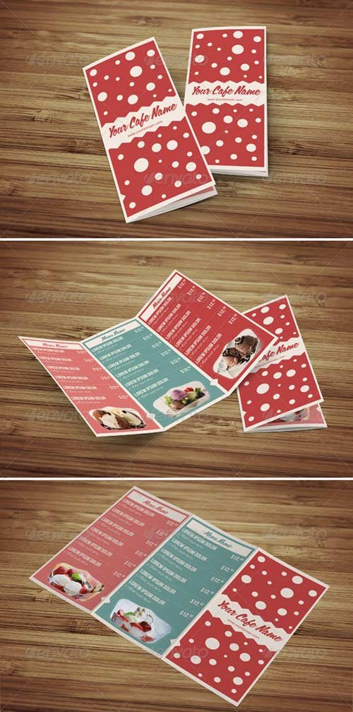 GraphicRiver Sweet Shop and Ice Cream Trifold PSD Menu Template