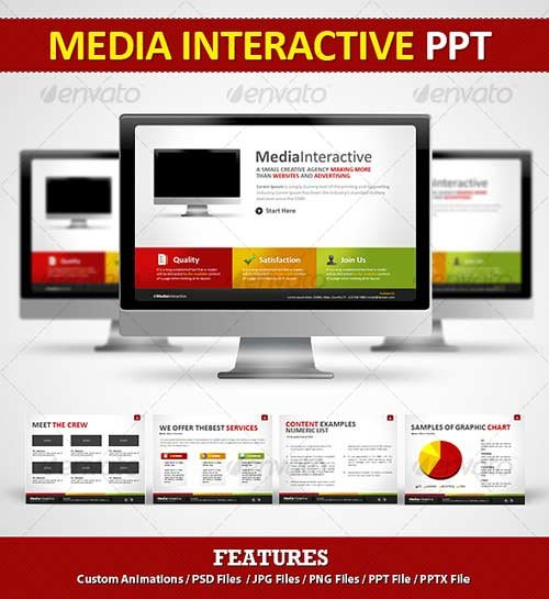 GraphicRiver Media Interactive PPT - Power Point