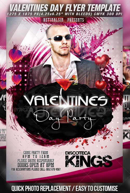 GraphicRiver Valentines Day Party Flyer Template v.2
