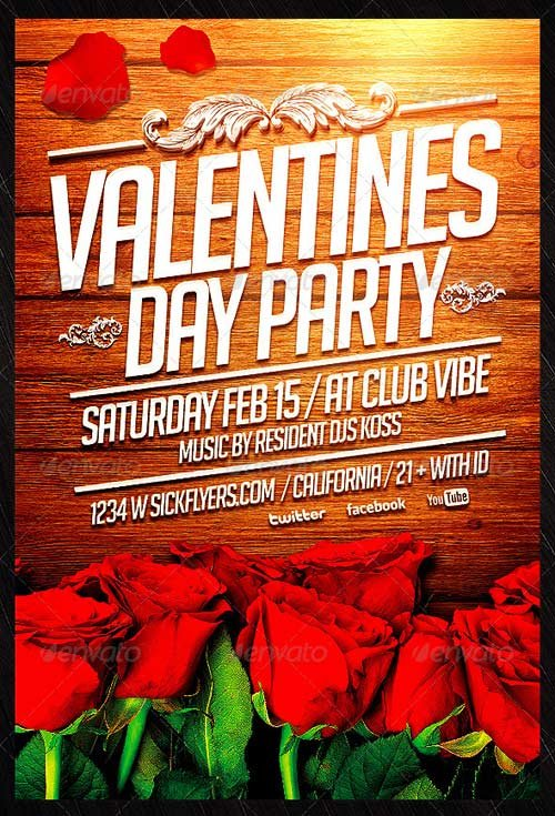 GraphicRiver Valentine's Day Flyer Template 6665812