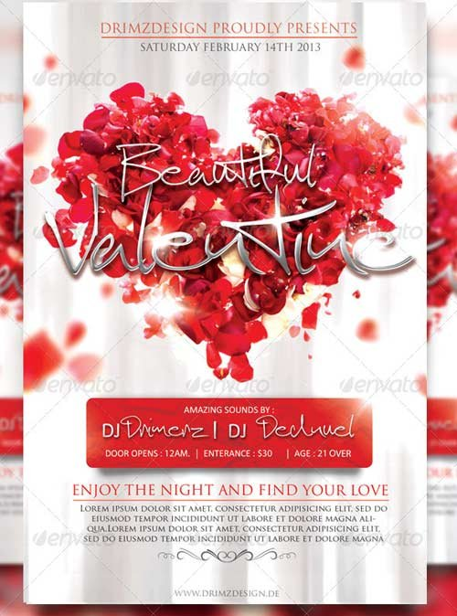 GraphicRiver Beautiful Valentine Flyer