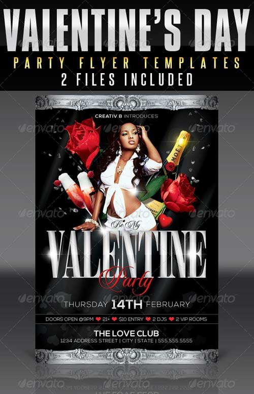 GraphicRiver Valentine's Day Party Flyer Templates