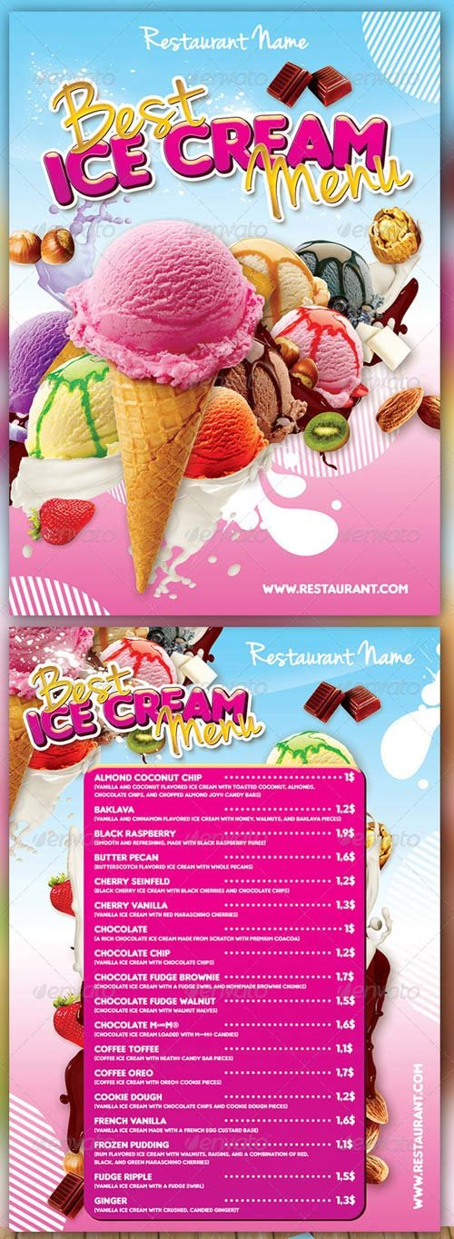 GraphicRiver Ice Cream Menu