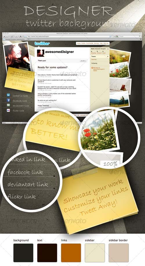 GraphicRiver Designer Twitter Background