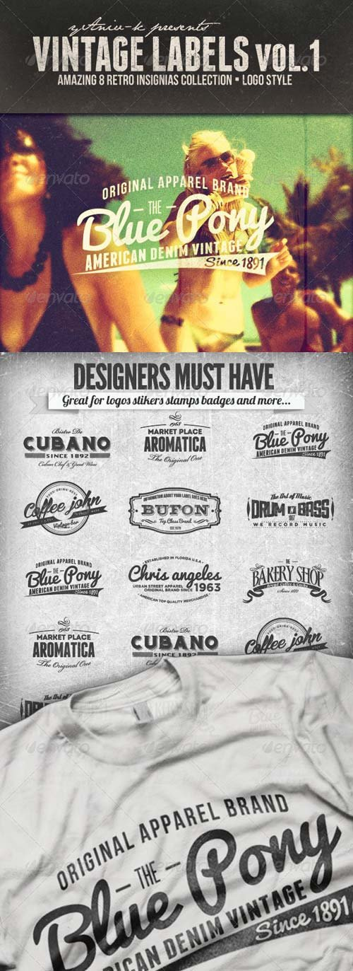 GraphicRiver Vintage Labels Vol.1