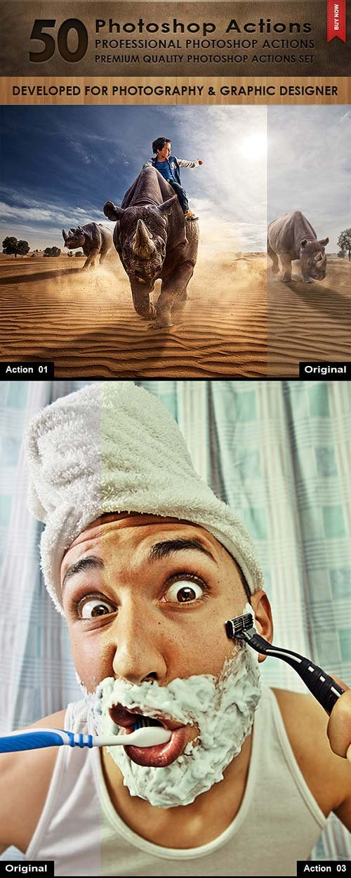 GraphicRiver 50 Photoshop Actions 10114086