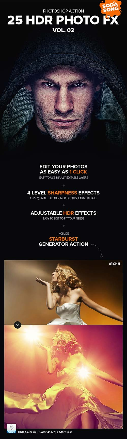 GraphicRiver 25 HDR Photo FX V.2 - Photoshop Action