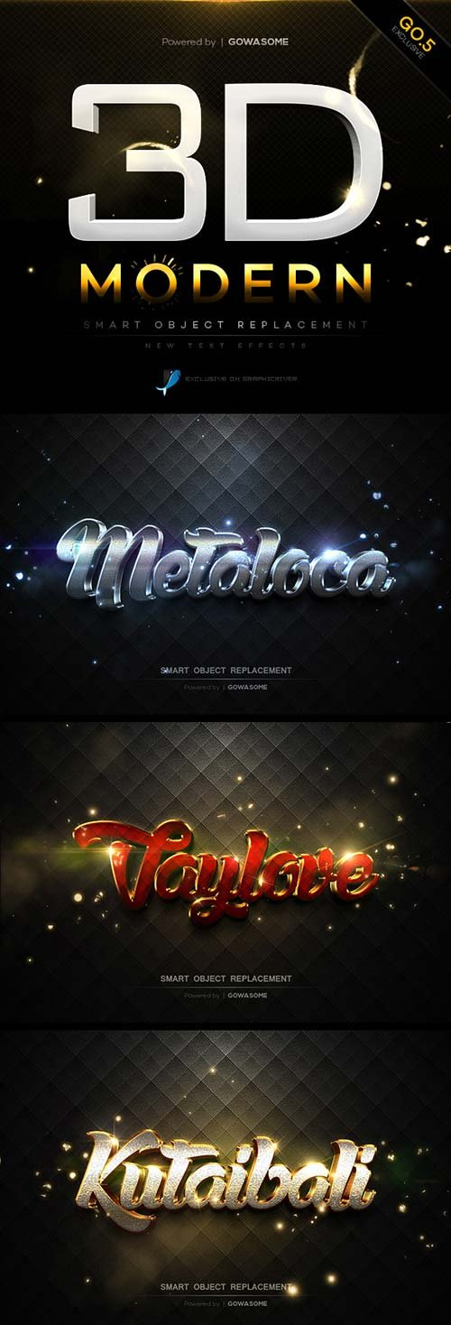 GraphicRiver Modern 3D Text Effects GO.5