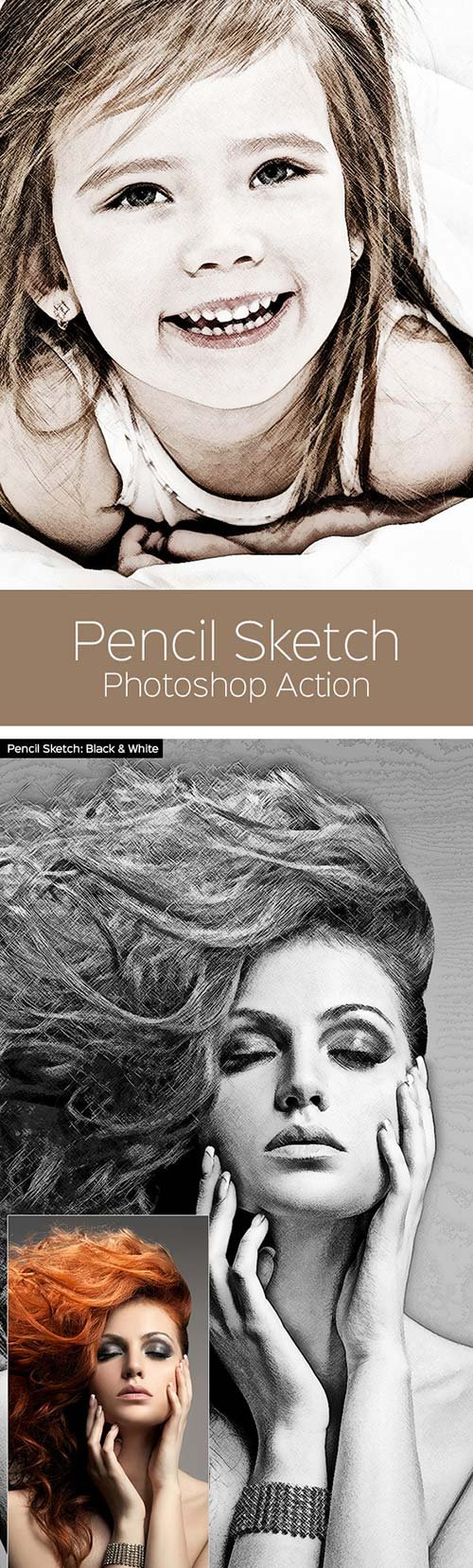 Graphicriver pencil sketch photoshop action