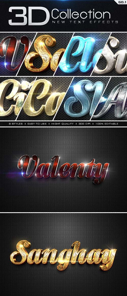 GraphicRiver New 3D Collection Text Effects GO.1