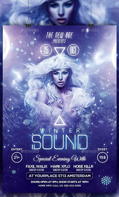 GraphicRiver Modern Flyer - Winter Sound