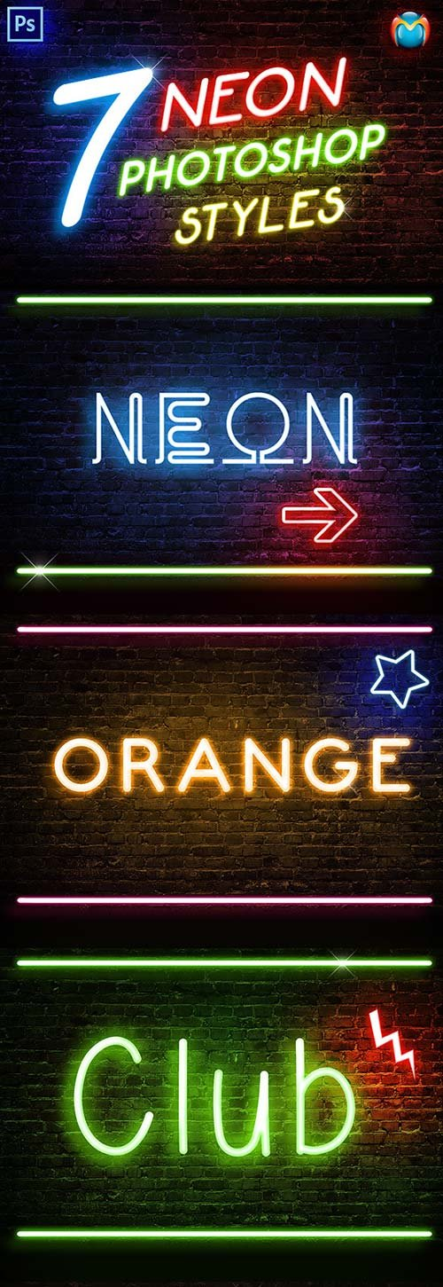GraphicRiver Neon Photoshop Styles