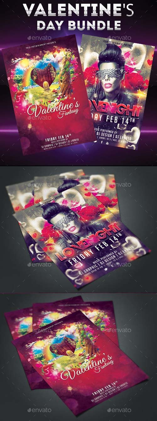 GraphicRiver Valentine's Day Bundle