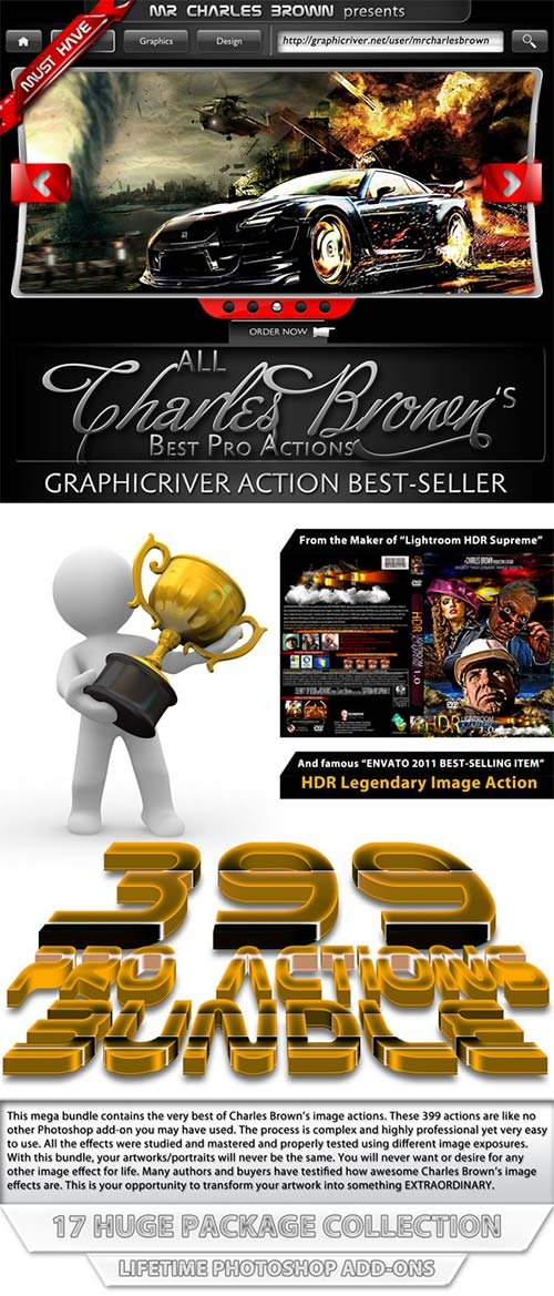 GraphicRiver All Charles Brown's Best Pro Actions Bundle