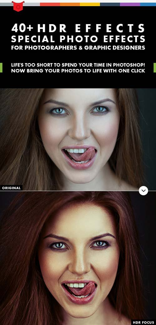GraphicRiver 40+ HDR Effects - Photoshop Actions