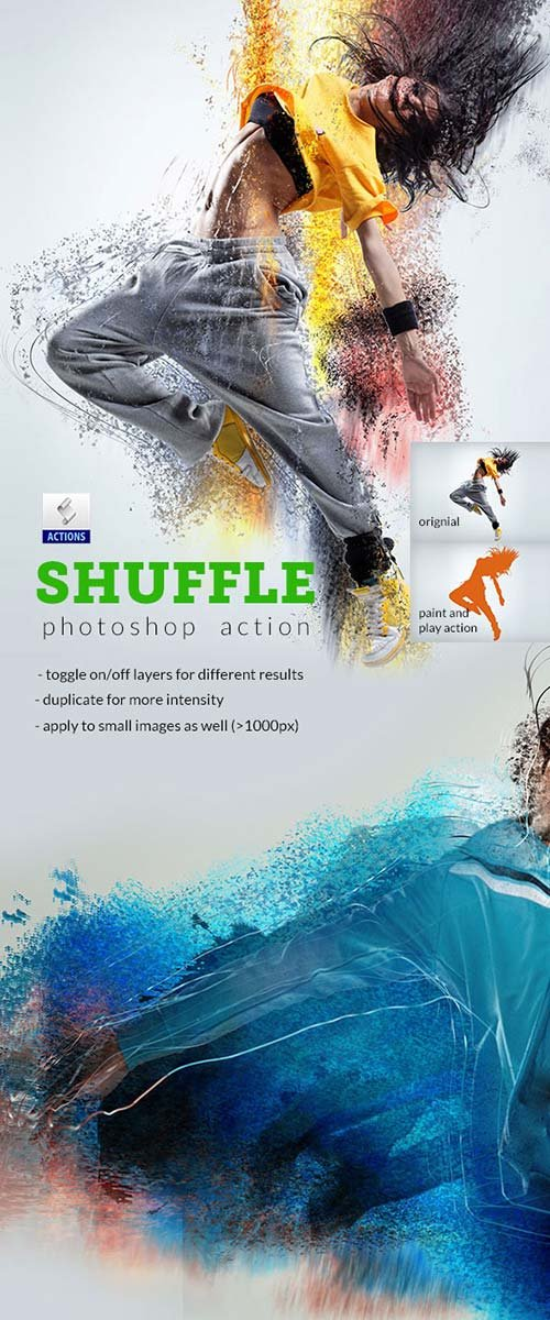 GraphicRiver Shuffle Photoshop Action
