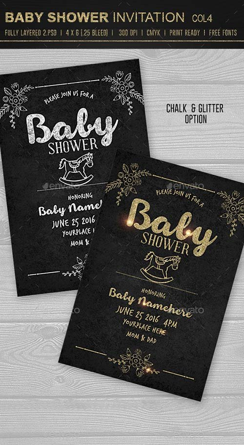 GraphicRiver Baby Shower Invitation 4