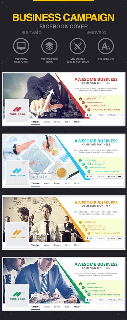 GraphicRiver Business Campaign Facebook Cover