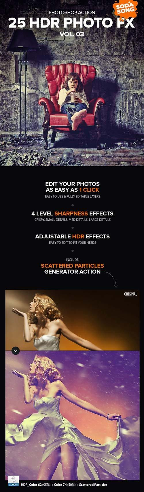 GraphicRiver 25 HDR Photo FX V.3 - Photoshop Action