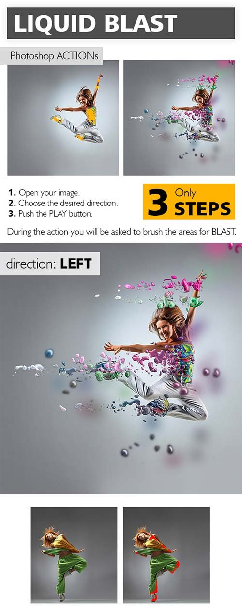 GraphicRiver Liquid Blast Photoshop Action