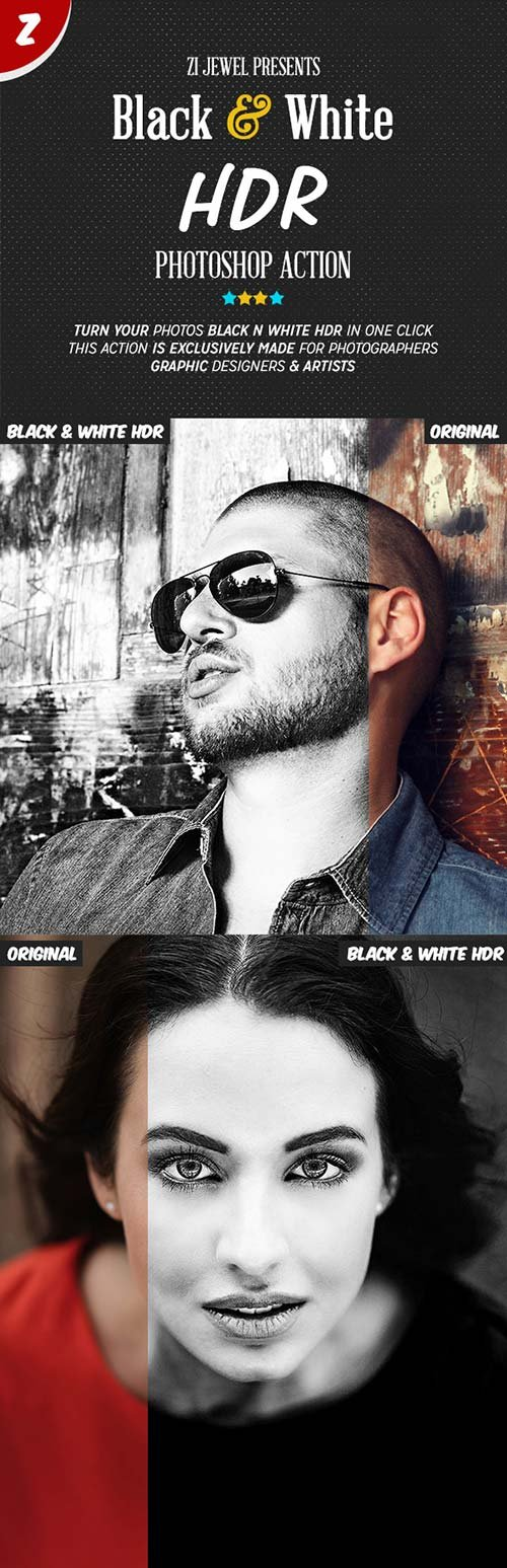 GraphicRiver Black & White HDR