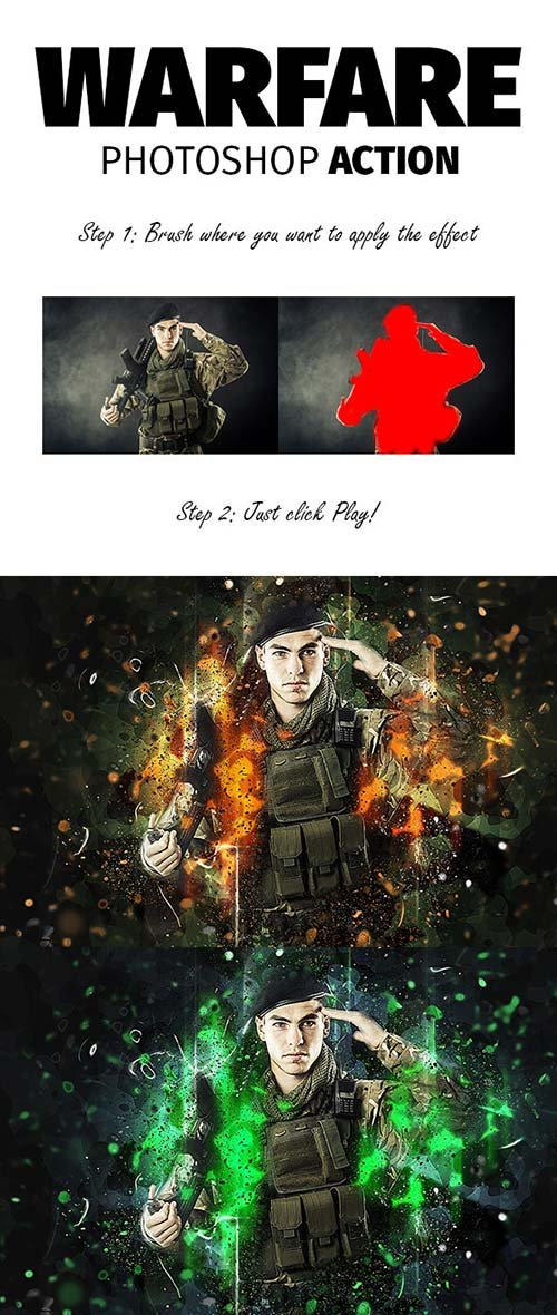 GraphicRiver Warfare Photoshop Action