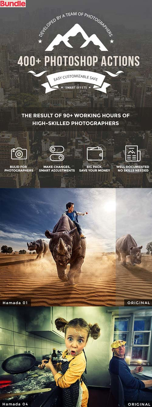 GraphicRiver 400+ Photoshop Actions Bundle
