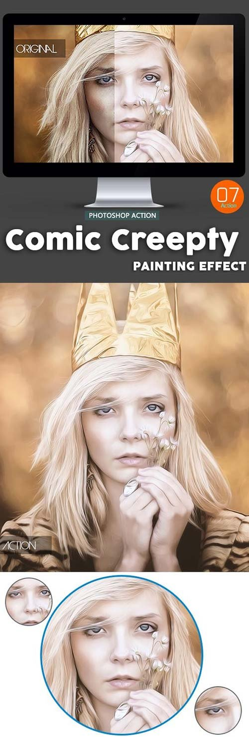 GraphicRiver Comic Creepty Oil Painting - Photoshop Action