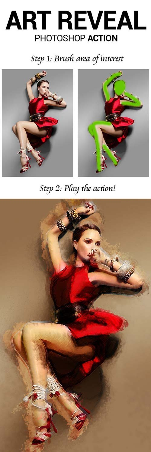 GraphicRiver Art Reveal Photoshop Action