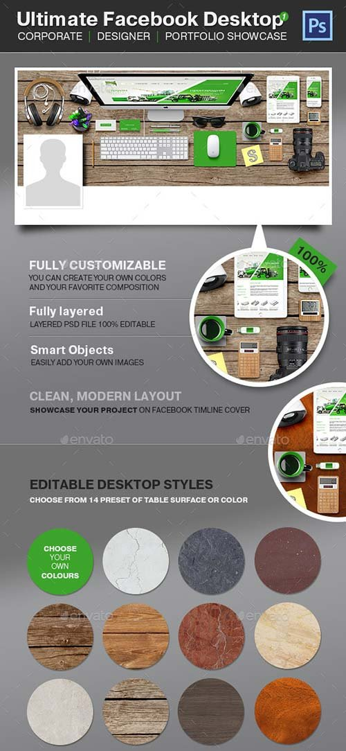 GraphicRiver Ultimate Facebook Timeline Desktop - Project Showc