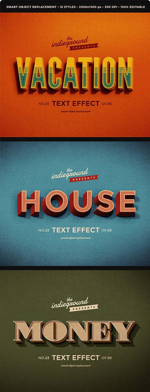 GraphicRiver Retro Vintage Text Effects Vol. 3