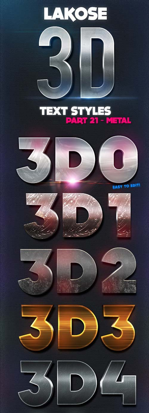 GraphicRiver Lakose 3D Text Styles Part 21