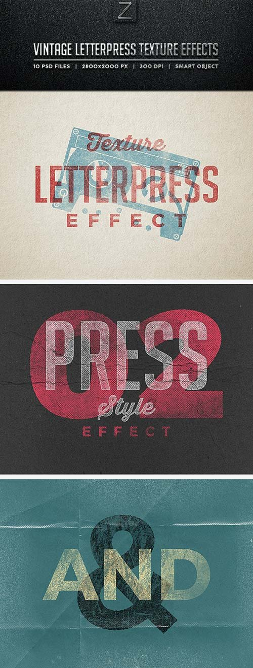 GraphicRiver Vintage Letterpress Texture Effects