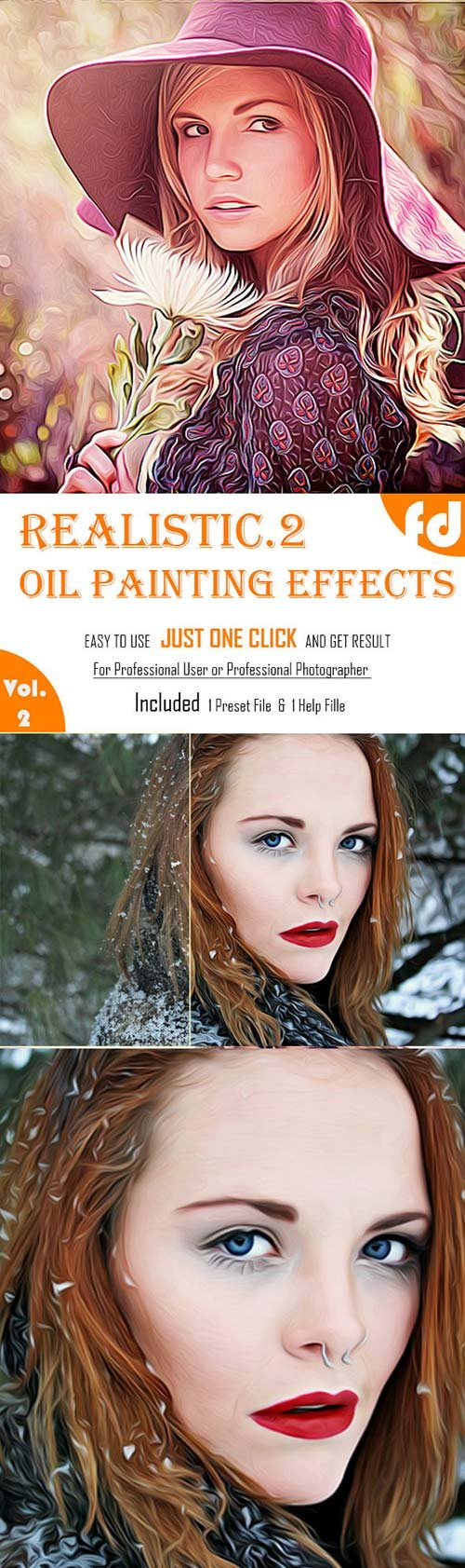 GraphicRiver Realistic Oil Painting Effects Vol.2