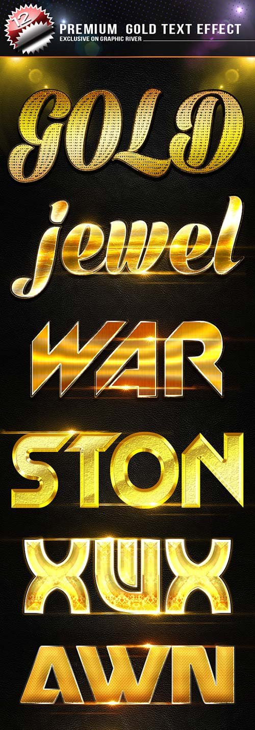 GraphicRiver Premium Gold Text Effect
