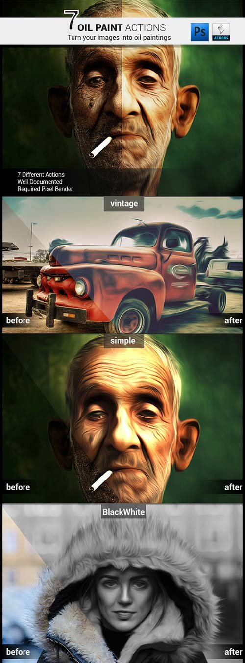 GraphicRiver 7 Oil Painting Actions