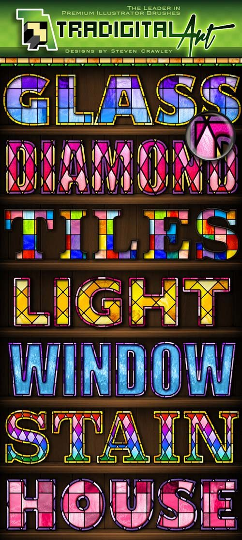 GraphicRiver Stained Glass PS Styles