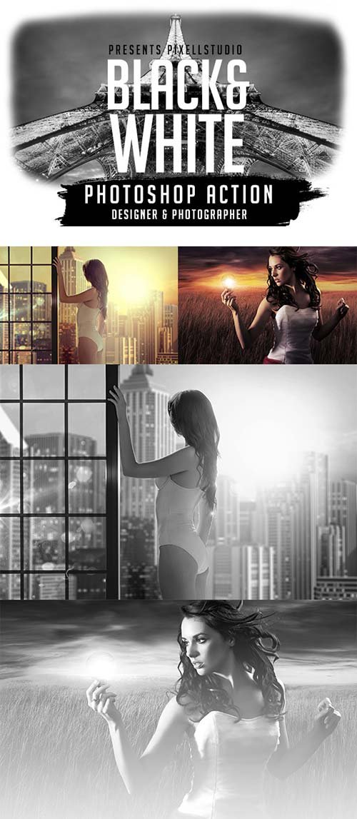 GraphicRiver Black&White Action For Designer & Photographer