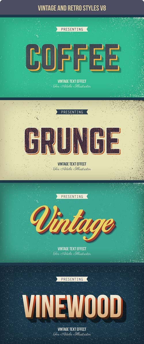 GraphicRiver Vintage and Retro Styles V8