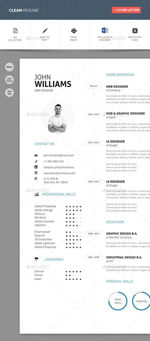 GraphicRiver Clean Resume Vol. 3