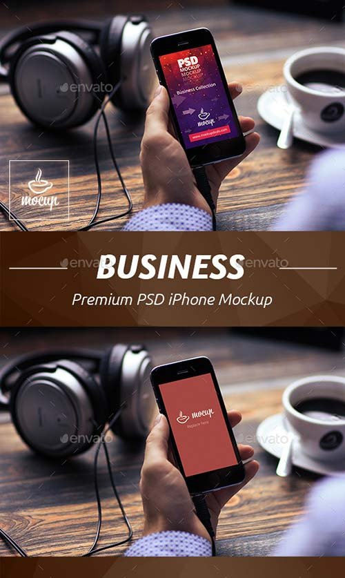 GraphicRiver Business iPhone Mockup