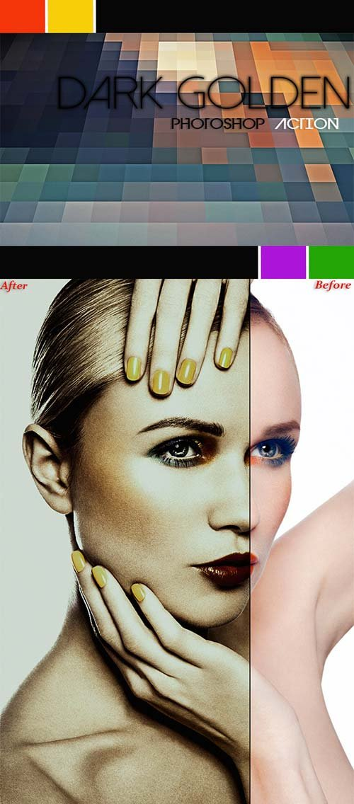 GraphicRiver Dark Golden PS Action