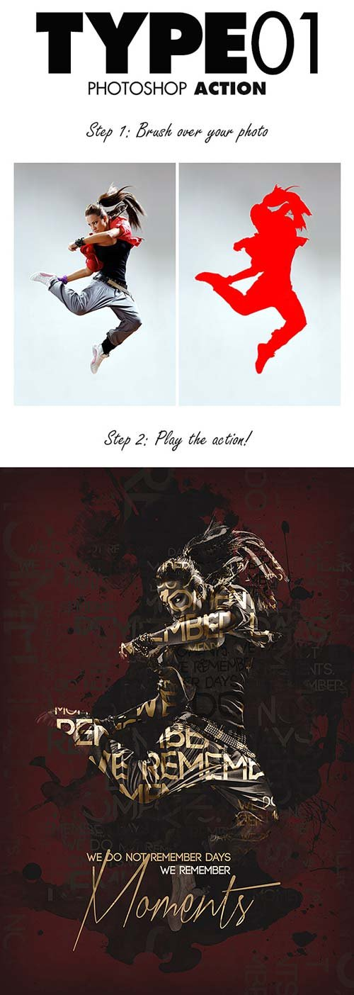 GraphicRiver Type01 Photoshop Action