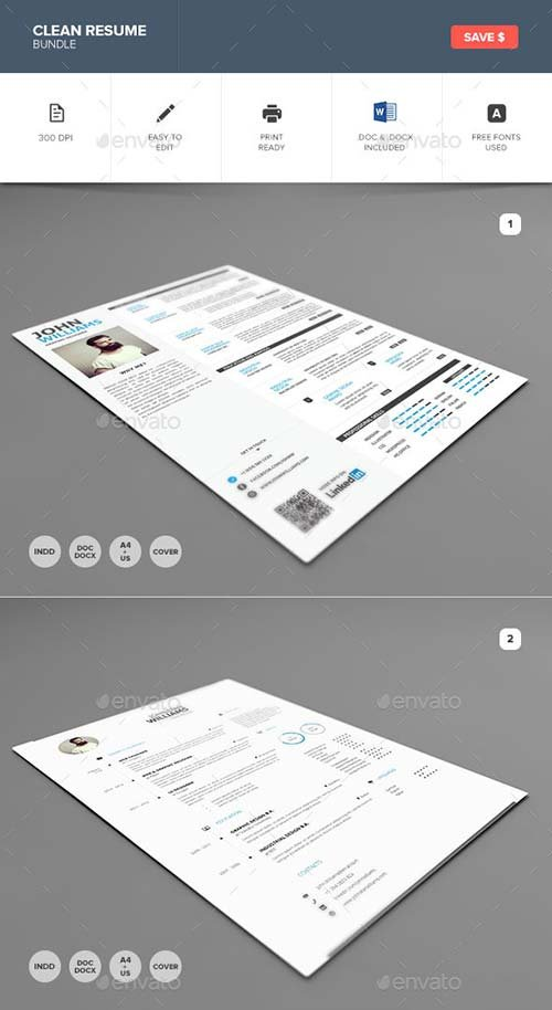 GraphicRiver Clean Resume Bundle