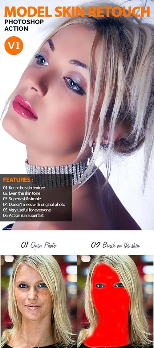 GraphicRiver Model Skin Retouch V1 - Photoshop Action
